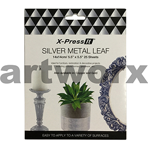 140x140mm 25pcs Silver Imitation Leaf X-press It