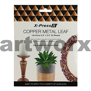 140x140mm 25pcs Copper Imitation Leaf X-press It