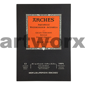300gsm A3 12 Sheet Rough Arches Pad