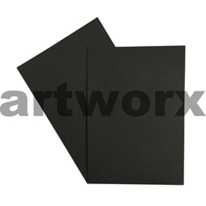 A4 Black 270gsm 20 Sheets 100% Recycled Coloured Cardstock