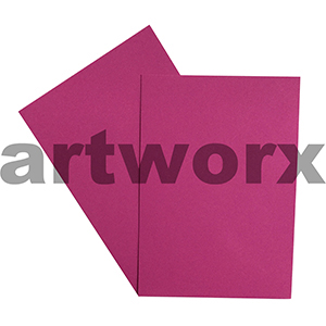 A4 Magenta 270gsm 20 Sheets 100% Recycled Coloured Cardstock
