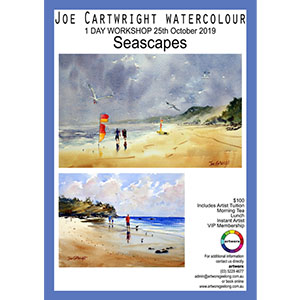 25th October Seascapes Watercolour with artist Joe Cartwright