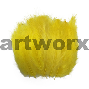 Arbee - Feathers - Yellow 15pc