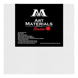 12 x 12 inch Studio Cotton Duck Art Materials Australia Canvas