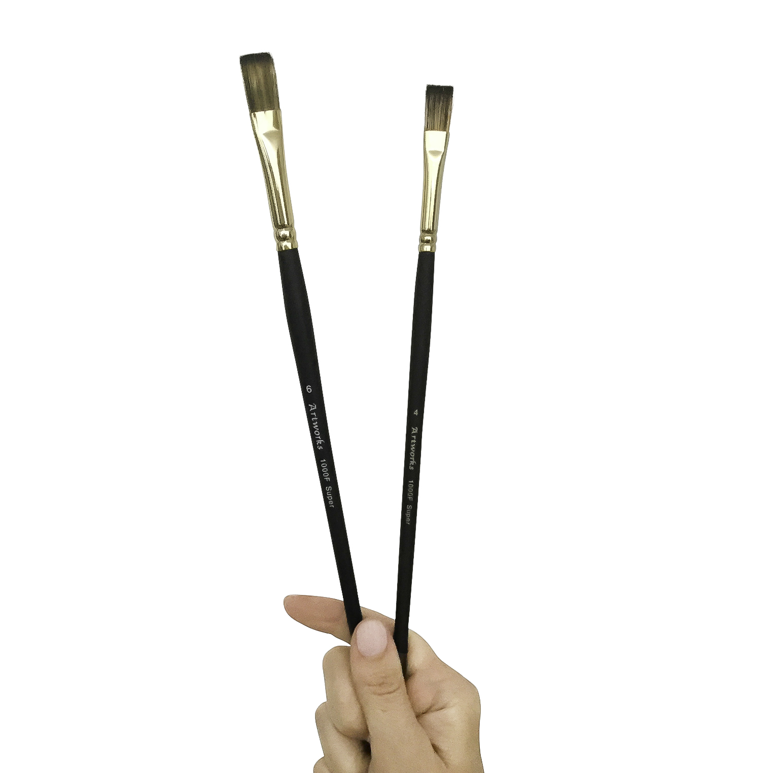 Series.1000 Twin Tone Golden Synthetic Brushes