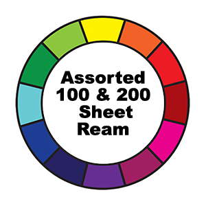 100 & 250 Sheet Ream Assorted Prism Colours Artist Sizes