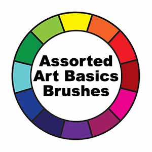 Assorted Art Basics Paint Brushes