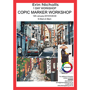 12th January Copic Marker Workshop