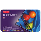 36pc Tin Colour Soft Derwent Pencils