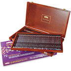 72pc Wooden box Colour Soft Derwent Pencils