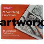 Derwent Graphic Sketching Tin 24pcs