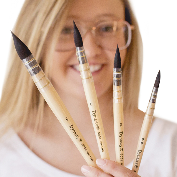 Dynasty Quill Paint Brushes