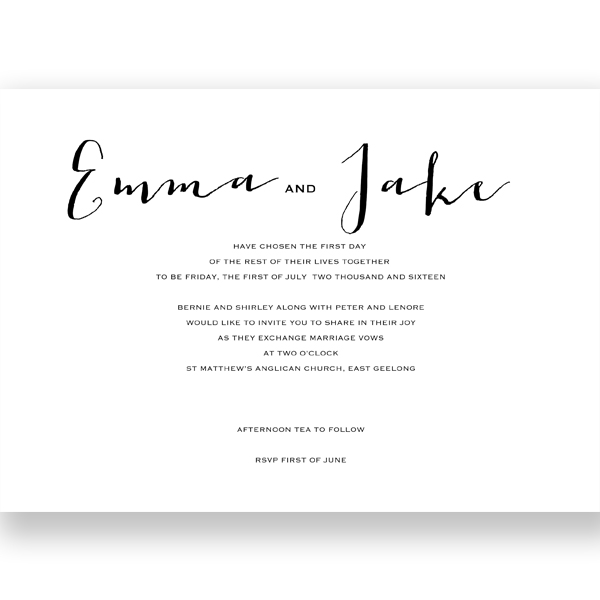 Wedding Invitation & Wishing Well Modern Template C5