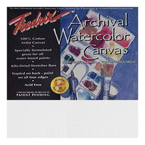 12x16 inch Fredrix Watercolor Canvas