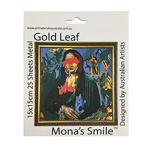 Mona's Smile 15 x 15cm Gold Leaf 25 Sheets
