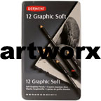 12pc Soft Graphite Sketching Pencils Derwent