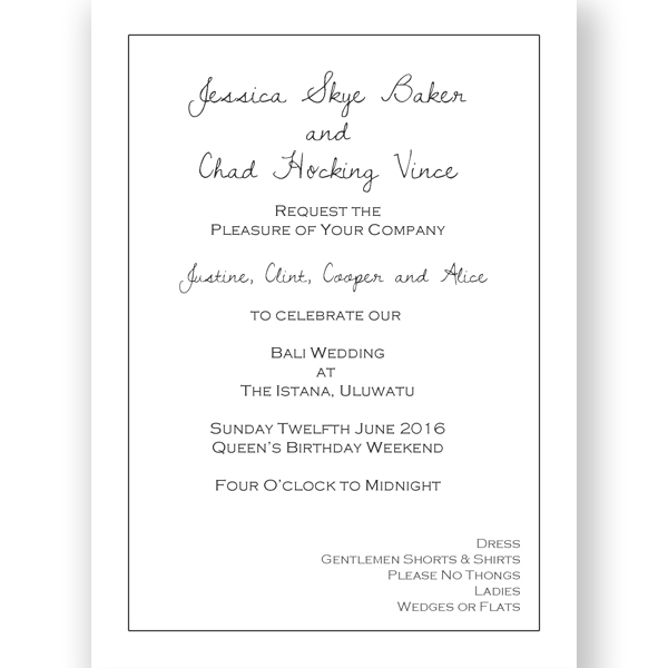 Wedding Invitation & Acceptance Formal Template C5