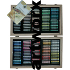 150pc Full Length Wooden Case Rembrant Soft Pastels