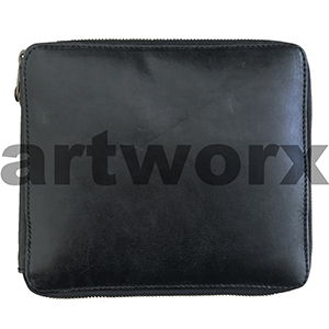 96 Global Art Pencil Case Black Genuine Leather