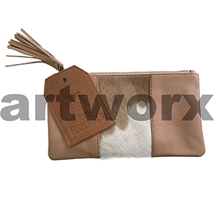 AMA Leather Pencil Case Hide Strip Style Guernsey Tan