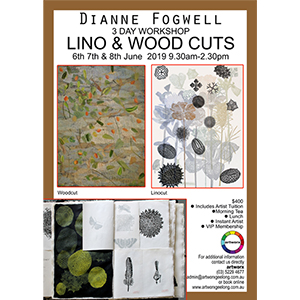 6th 7th 8th June Lino & Wood Cut Workhop