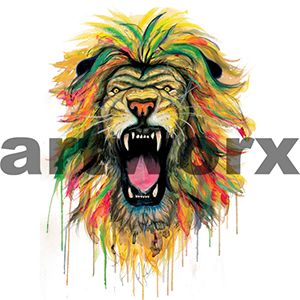 A2 Lion Limited Edition Print on Cotton Rag Paper