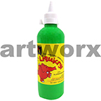 Fluorescent Green Liquicryl Junior Acrylic 500ml Educational Colours