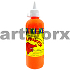 Fluorescent Orange Liquicryl Junior Acrylic 500ml Educational Colours