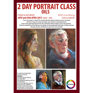 2 Day Oil Painting Workshop Friday 28th April & Saturday 29th April