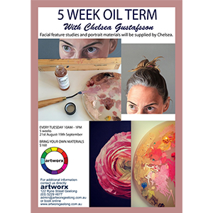 5 Week Term Oil Painting Classes August - September 2018