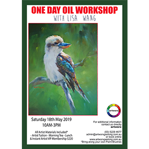 18th May Bird Oil Painting Workshop - All Artist Materials Included*
