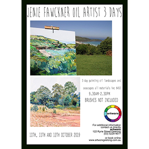 10th 11th & 12th October Land & Sea Oil Painting Workshop - All Artist Materials Included*