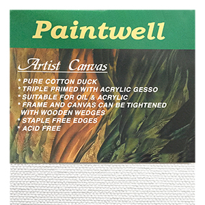 10 x 10 inch Standard Art Canvas Paintwell