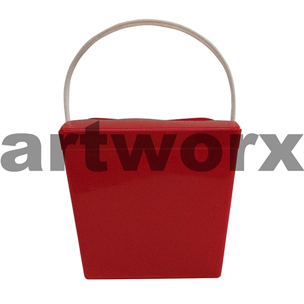 26oz Solid Red Jelly Pail