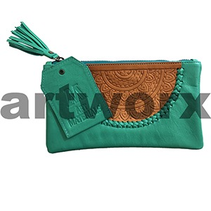 AMA Leather Pencil Case Dreamweaver Style Jade