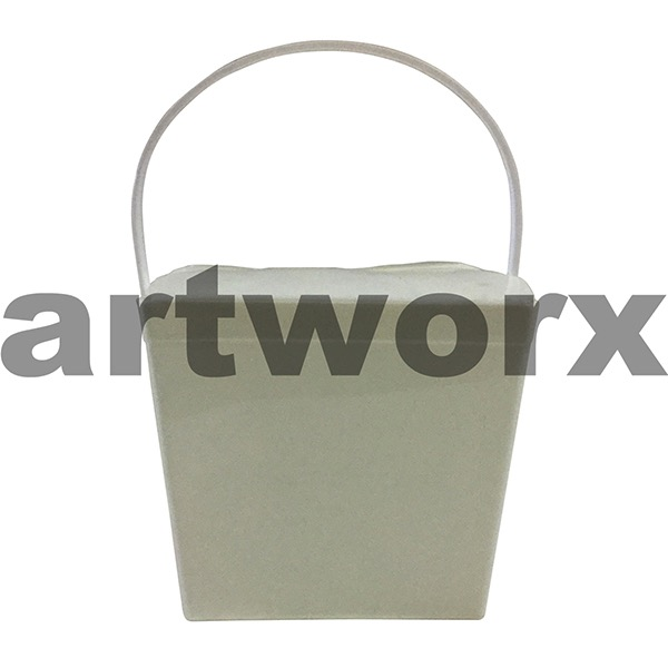 26oz Solid White Jelly Pail
