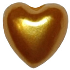 Pearl Heart Gold 7mm
