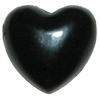 Pearl Heart Black 7mm