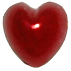 Pearl Heart Red 7mm