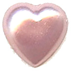 Pearl Heart Pink 7mm
