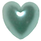 Pearl Heart Pale Blue 7mm