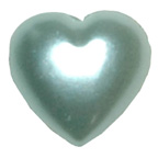 Pearl Heart Pale Blue 10mm