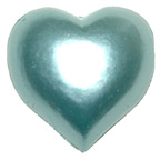 Pearl Heart Pale Blue 15mm