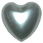 Pearl Heart Silver 8mm