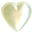 Pearl Heart Ivory 12mm