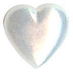 Pearl Heart White 10mm