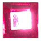 6mm Square Bright Pink Diamante Stones