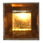 6mm Square Brown Diamante Stones