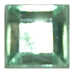 6mm Square Green Diamante Stones