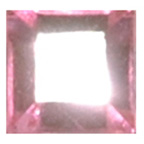 6mm Square Pink Diamante Stones